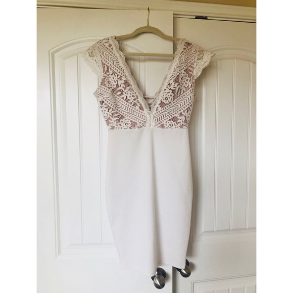 3388b2263530 Haute Monde Dresses   Skirts - White lace   nude dress